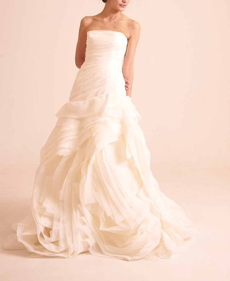 【WHITE by VERA WANG】Organza Petite Wedding Dress